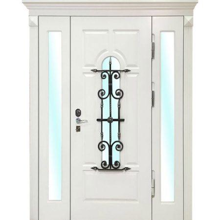 белая-входная-дверь-со-стеклом-в-частный-дом