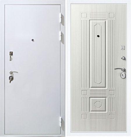 дверь-входная-металлическая-белая-снаружи